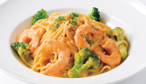 Shrimp Spaghetti with Creamy Bisque Sauce