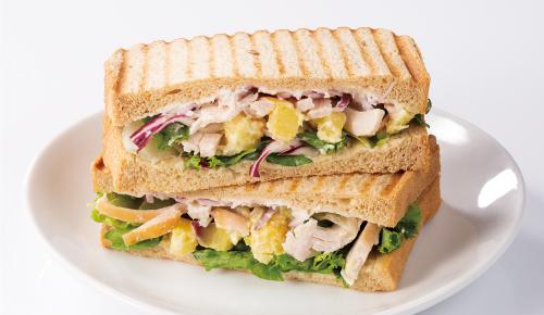 Sour Cream Cheese, Sweet Potato & Chicken Sandwich