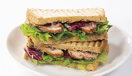 Smoked Duck & Tapenade Mayonnaise Sandwich