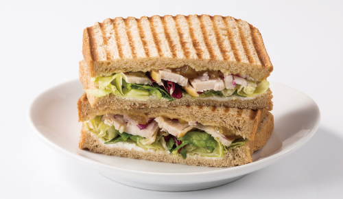 Sliced Chicken & Mango Chutney Sauce Sandwich