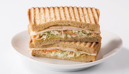 Chicken Ham & Dill Flavored Coleslaw Sandwich