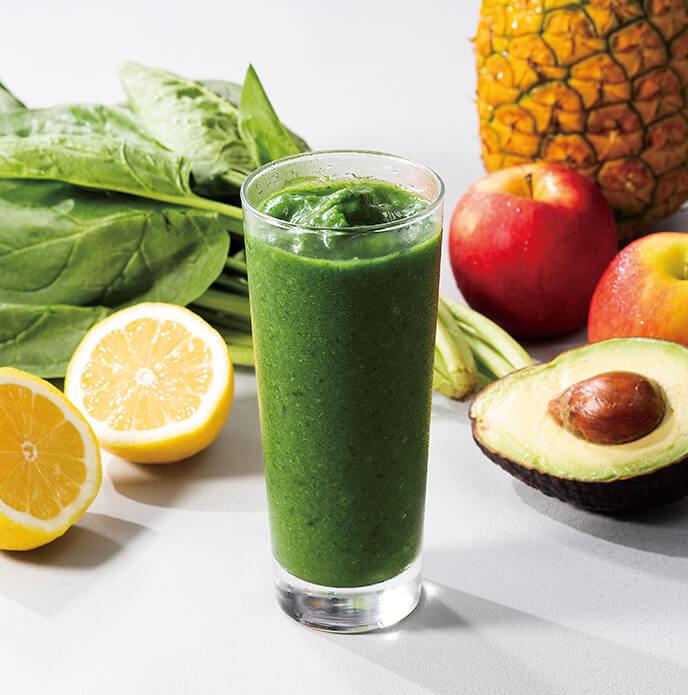 手軽に一日に必要な1/2の緑黄色野菜が摂れる!「グリーンスムージーグラニータ」を7月21日(火)に発売